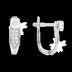 Weißgold Ohrhänger mit Swarovski Zirkonia