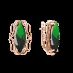 Ohrhänger mit grüner Zirkonia