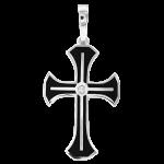 Silber Kreuz mit Zirkonia und Emaille