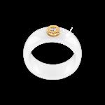 Damenring aus weißem Keramik mit Brillant