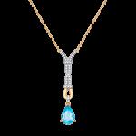Collier mit blau Topas, Zirkonia