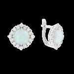 Ohrhänger mit Opal  und Zirkonia
