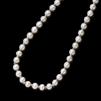 Perlenkette mit Gold