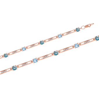 Armband mit Topas, London Topas und Zirkonia